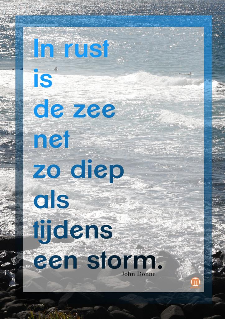 in rust is de zee net zo diep als tijdens een storm_